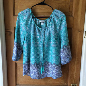 Christopher & Banks Flowy Petite Tunic Top